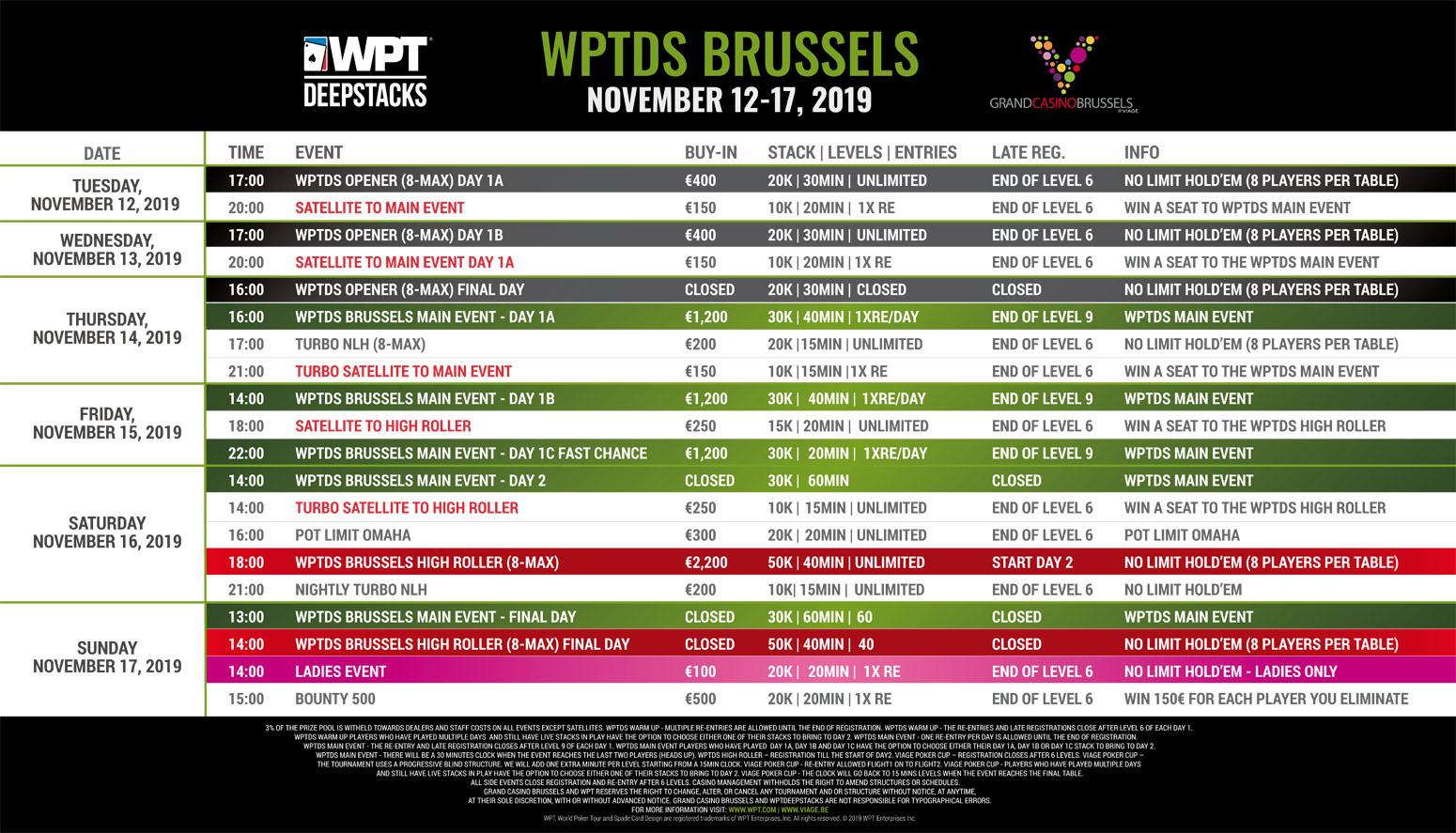 WPTDS Brussels - November 2019 Programme