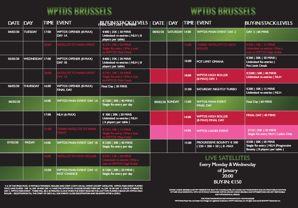 WPTDS Brussels - February 2020 Programme